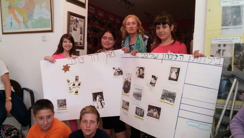 פעילות תלמידים בבית הזיכרון